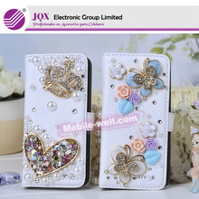 Wholesales diamond pearl leather case s5 flip cover for samsung galaxy grand i9082 case