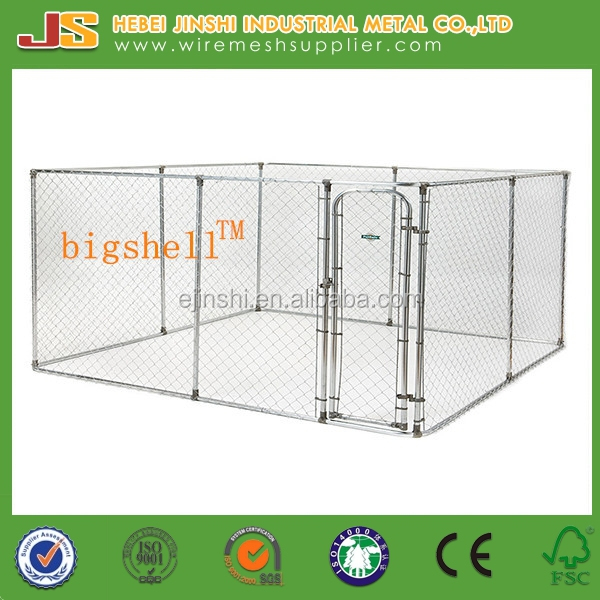 3x3x1.83m Large outdoor chain link dog kennels & dog cages & dog runs dog cage real manufacture