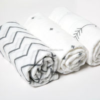 100%muslin cotton baby swaddle wrap blanket