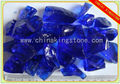 Baoshi blue tumbled glass for landscaping
