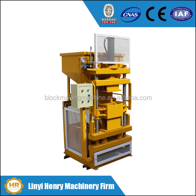 mini concrete plant hydraulic interlocking brick making machine HR1-10 cheapest price