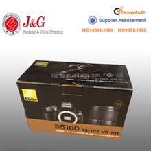 Hot selling custom luxury digital camera folding cardboard electronic packaging recycle carton box