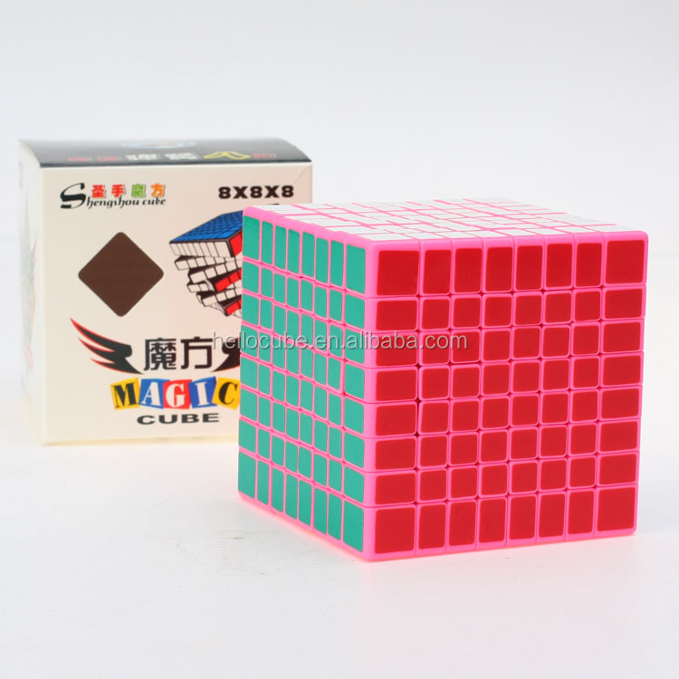 ShengShou 8x8x8 Cube Pink 8 layers 8x8 Speed Cube Large Plastic Cube Puzzle Twist Kids Toys Wholesale China