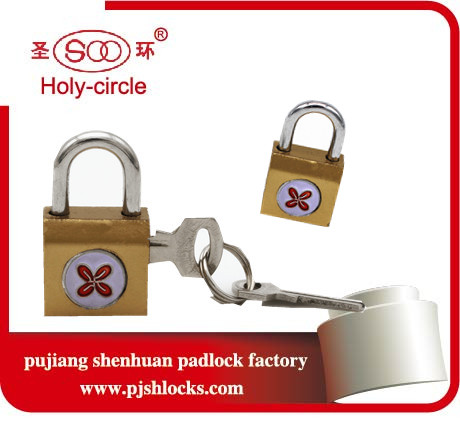 Brand Chunhua brass imitated side open samll padlock iron