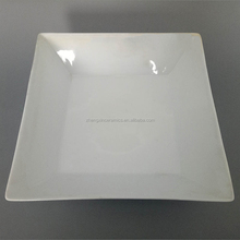 Factory food grade white ceramic serving soup plate in stock for restaurant