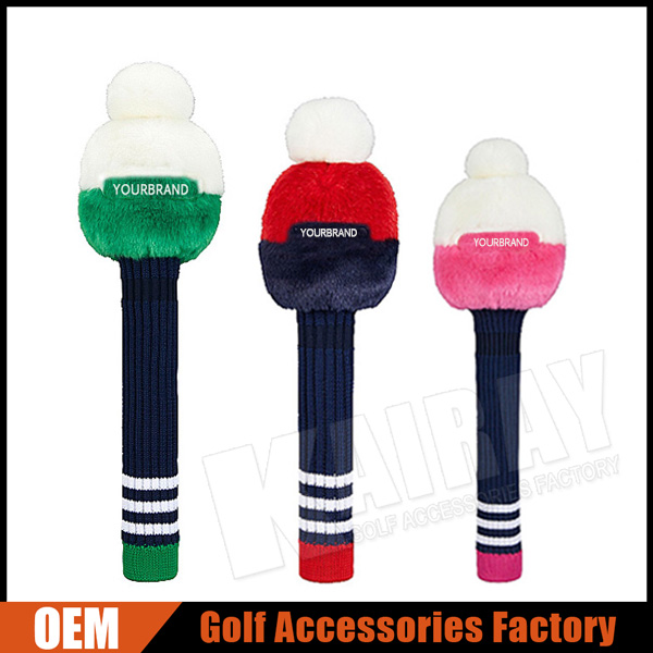 2016 Fall&Winter Knitted Golf Head Covers For Driver/Fairway Wood/Hybrid