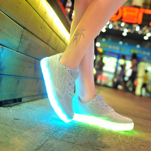 VIPFOX USB Charge Shiny Pu adult battery operated led shoes light with 11 lights models