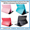 LBK538 Ultra slim Magnet detachable keyboard case Samsung Galaxy Tab2 P5100 P7510 Tablet Bluetooth Tastatur