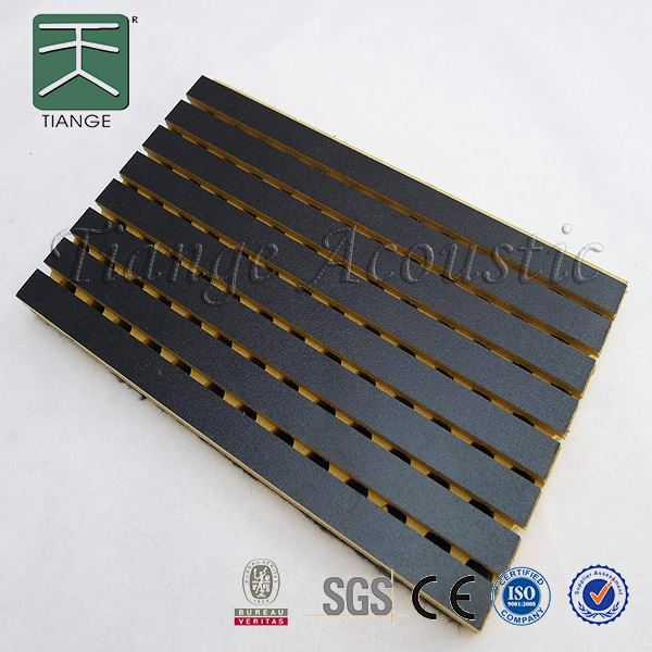 noise reduction materials light weight quick installation 18mm mdf v groove panel