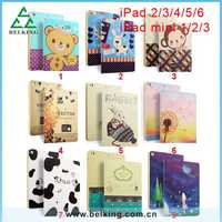 New Stand Flip Folio Leather Smart Cover Case For iPad Mini / For iPad 4 / For iPad air 2