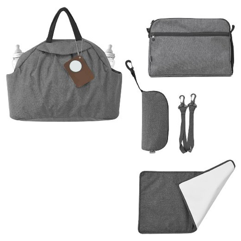 baby diaper bag diaper organizer changing mummy bags in gray