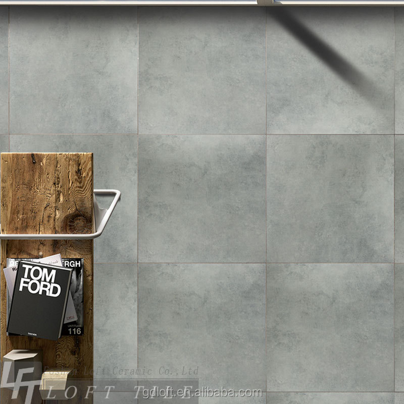 hot interior tiles of gray cement acid resistant 600*600 wall tiles