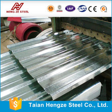 Long Span 0.5mm thick Galvanized Corrugated Roofing Sheet For Shed