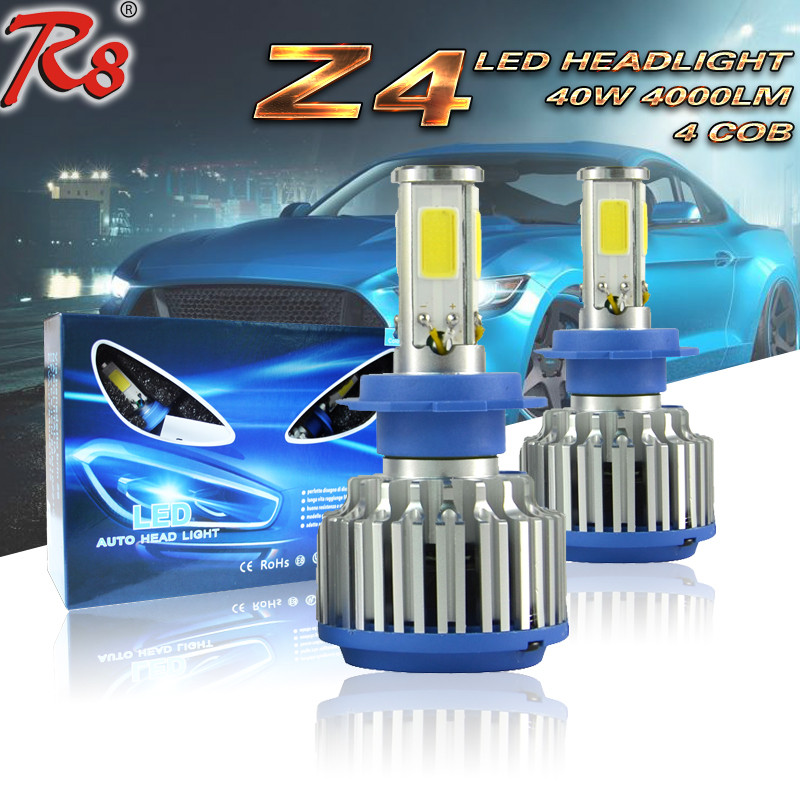 Z4 led h7 headlight bulbs g5 led headlights for skoda octavia hyundai 40w 4000 lumens super bright led head lamp h7 6000k
