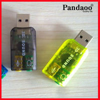 Hot selling 5.1 channel external 3D usb virtual sound card driver