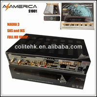 Original Satellite Receptor Azamerica S1001 Hd Iks Sks Full Hd 1080p Nagra 3 Decoder For South America
