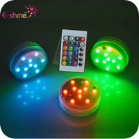 Free Sample Multi-color Underwater Remote Controlled Battery Operated Led Submersible Light
