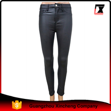 custom pu coated black super skinny leggins women