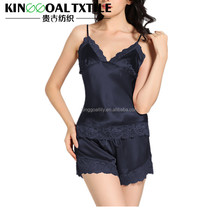 New Fashion Sexy 100% Silk Women Nighty sleepwear