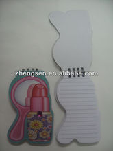 lipstick mirror shaped spiral notebook / mini notebook / pocket notebook