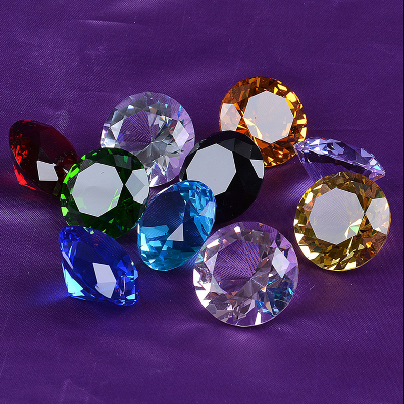 Decorative Glass Diamond K9 Colorful Crystal Glass in Weeding Decoration&gifts