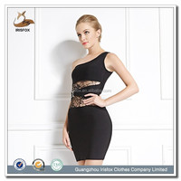 lace backless one shoulder Special ladies formal dress patterns