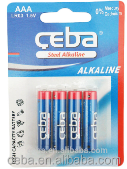 CEBA Fashionable mini size Alkaline Battery 1.5v AAA Size