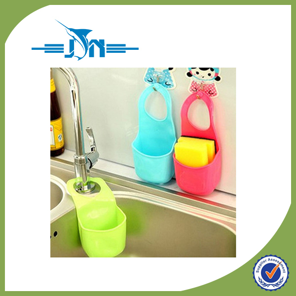 Creative Folding Hanging Silicone Bathroom Kitchen Gadget Storage Box Makeup Organizers Case