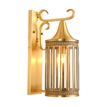 Europe Style Copper Wall Lamp Indoor Wall Lighting for Interior Decoration Hotel Garden