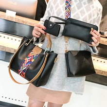 4 pcs set beautiful ladies cross body side bags fashion handbags for girl