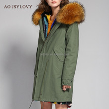 Best Cheap High Quality Wholesale Women Rabbit Fashion Real Hooded Winter Coat Fur Jackets