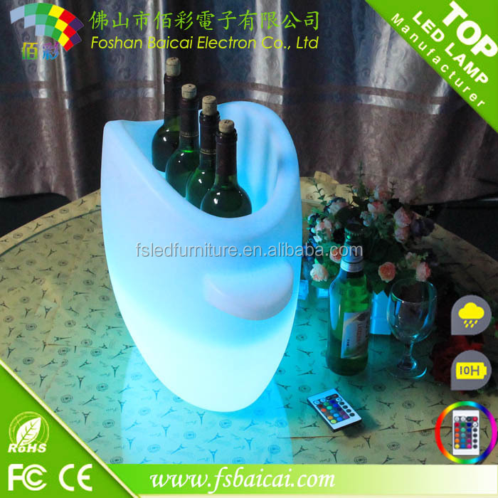 Led beer Bucket/LED Plastic Drink Buckets BCR-915B