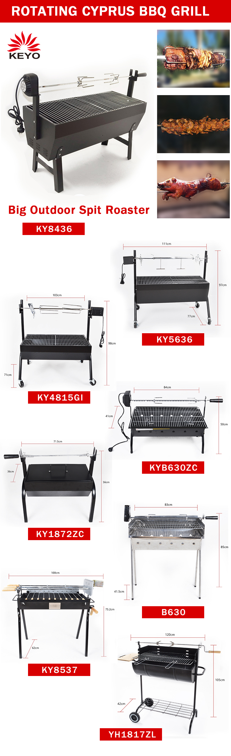hot sale shawarma heavy duty spit roaster barbecue grills pig roaster cyprus master bbq grill rotisserie