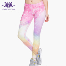Wholesale fancy sublimation printing tight yoga pants push up fitness yoga leggings compressive gym bottoms