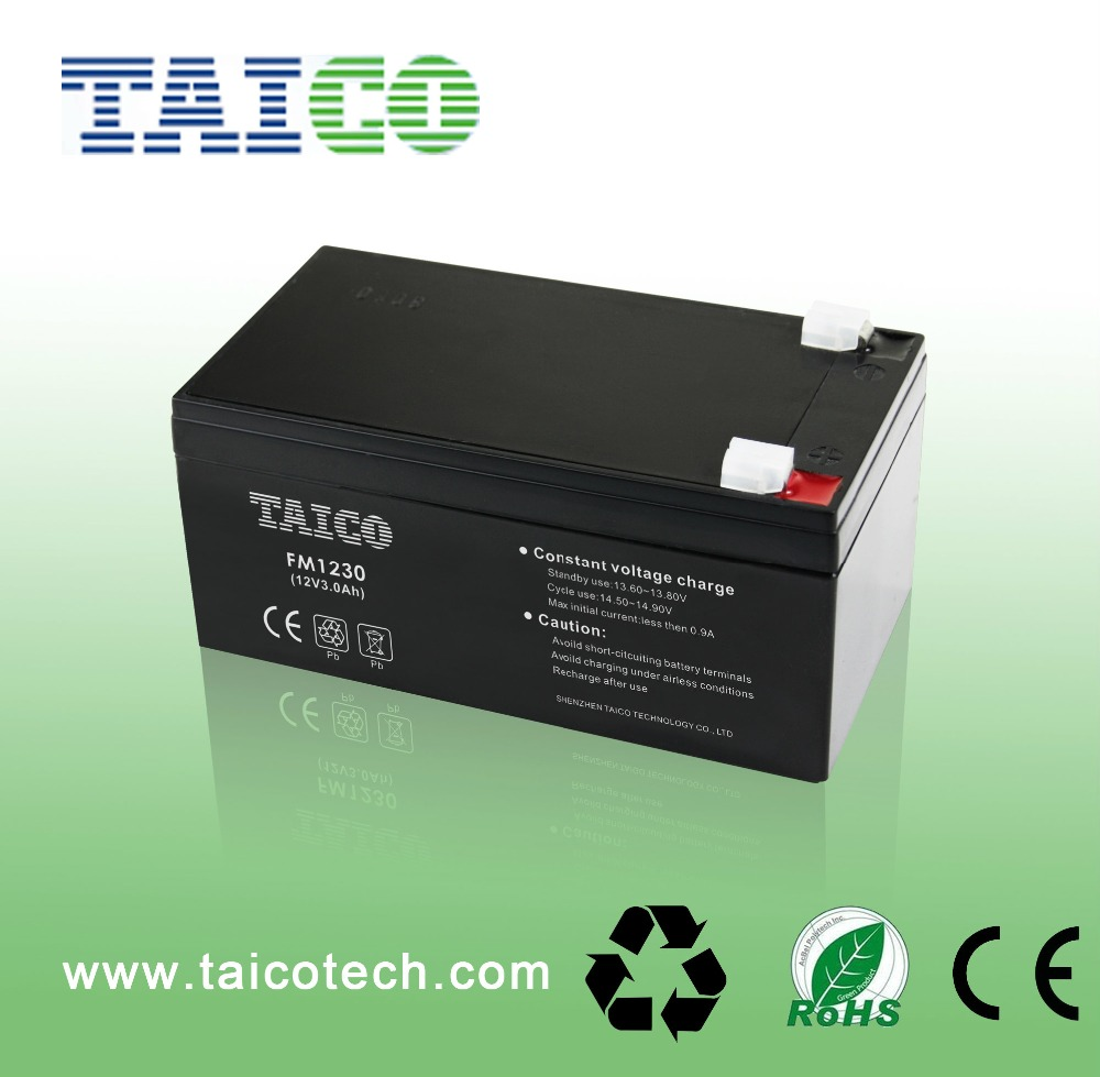 Rechargeable 12v 3ah sealed lead acid battery for UPS Alarm& Security system