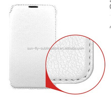 High quality Sublimation Leather Flip Cover / Sublimation Leather flip case / Sumblimation Leather cover for Samsung S5