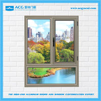 Alibaba China Easy cleaning wind proof mill finish aluminum window
