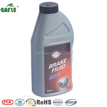 faint yellow heavy-duty brake fluid dot 3 in 500ml plastic bottle