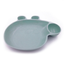 Cute Pig Shape rice husk tableware <strong>Plate</strong> and cutlery set