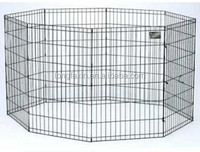 8-Panel Black Dog Exercise Play Pen with Door