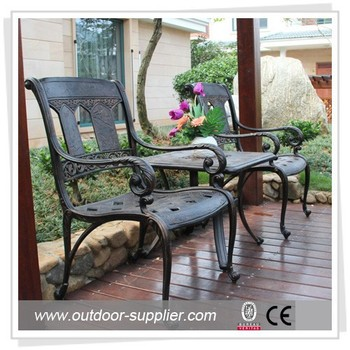 outdoor cast aluminium bistro set,cast aluminum bistro set,outdoor rattan bistro set