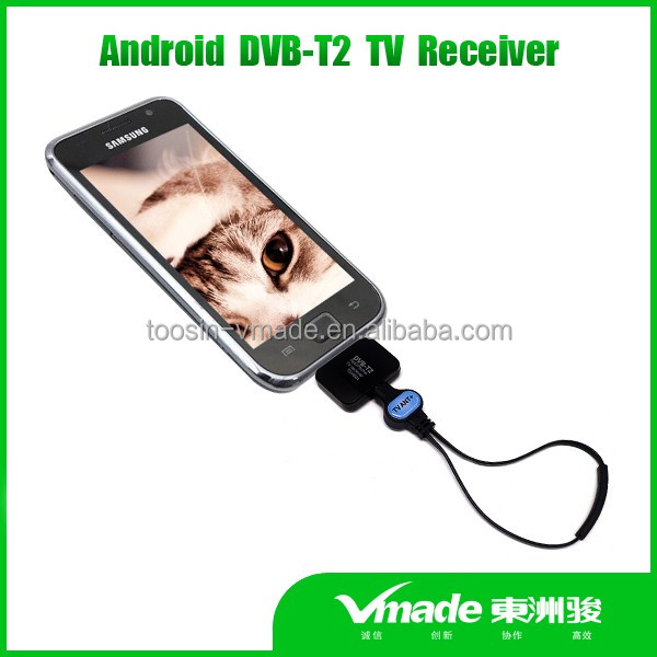 smart android DVB-T2 tv receiver digital micro usb tv tuner for android pad/phone