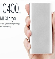 New!!MI 10400mAh External USB Power Bank Portable Battery Charger with Premium Aluminum Alloy Surface Compatible For Smartphones