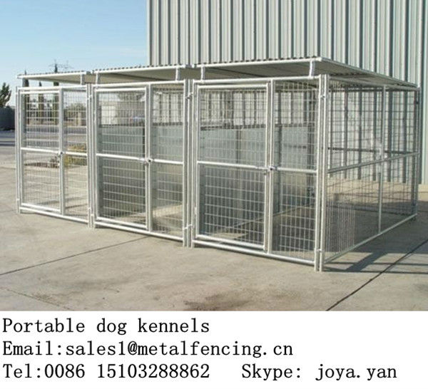Retail wholesale galvanized steel welded dog kennel cages
