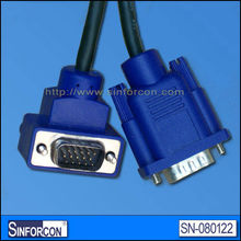 elbow vga cable l shape db15 cable