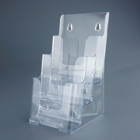 office items clear plastic brochure and document holder