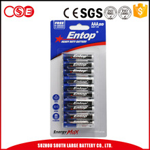 Hot Selling Carbon Zinc Dry Battery Aaa Size R03p 1.5V Battery