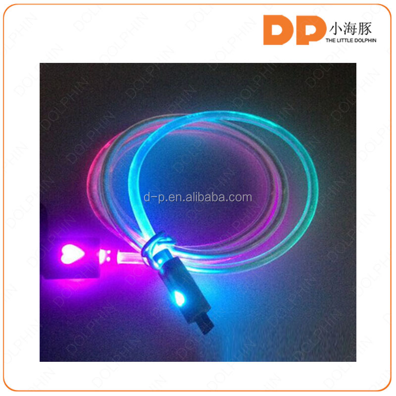 micro usb light usb cable rechargeable cable usb smile cable for mobile phone smartphone