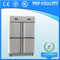 Hot Selling 4 Doors Commercial Fridge Freezer,Upright Refrigerator Freezer