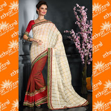 new style jamdani plain color combinations bridal sarees with hand embroidery designs border and patterns blouses